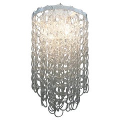Italian Glass Link Chandelier, a Pair Available