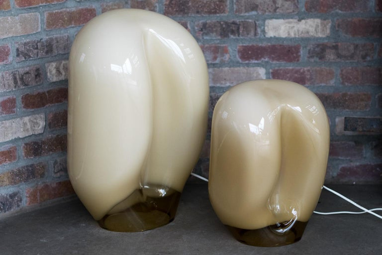 Murano Glass Italian Glass Table Lamp by Vistosi, 1970s For Sale