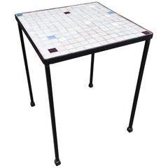 Italian Glass Tile Table