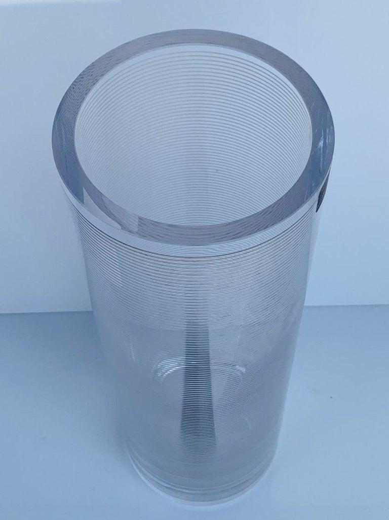 Late 20th Century Italian Glass Vase by Sottsass Associati for Egizia For Sale