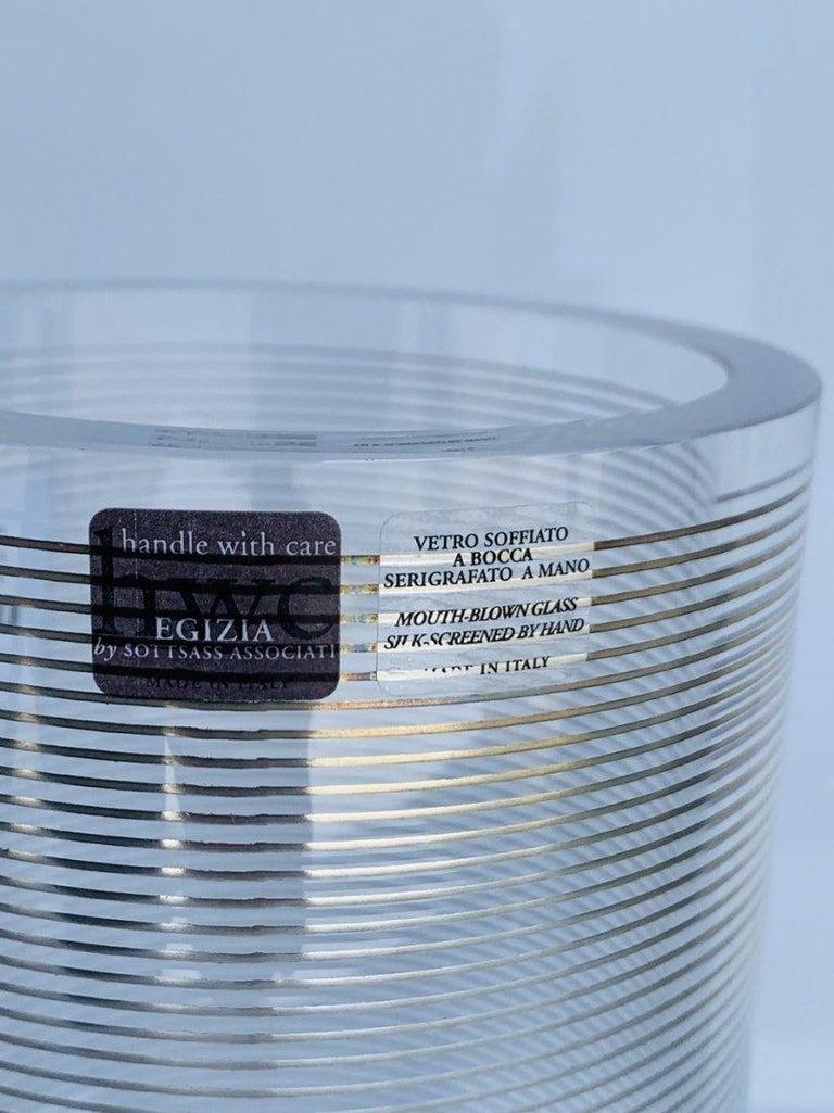 Italian Glass Vase by Sottsass Associati for Egizia For Sale 1