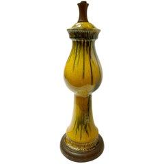 Italian Glazed Porcelain Table Lamp