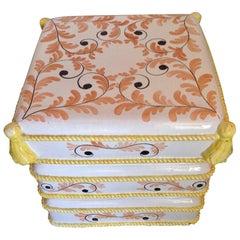Italian Glazed Terracotta Garden Seat