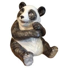 Italian Glazed Terracotta Panda Bear