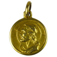 Italian God Protect You Yellow Gold Charm Pendant