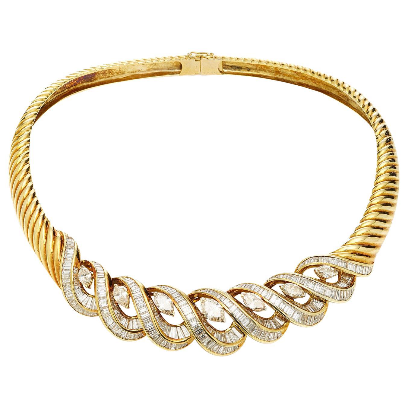 Italian Gold and Diamond Necklace