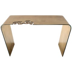 Italian Gold Glass Console Table with Swarovski Crystals FINAL CLEARANCE SALE