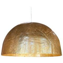 Italian Gold Leaf Resin Cupola Chandelier