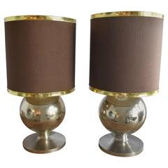 Italian Gold Metal Midcentury Lamps