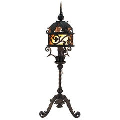 Italian Gothic Revival Bronze Table Lamp