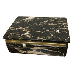 Italian Grand Tour Black Marble Box