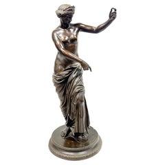 Italian Grand Tour Bronze Statue, Venus of Capua, 19th Century