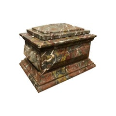 Italian Grand Tour Carved Marble Box