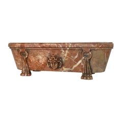 Italian Grand Tour Model of Breccia Marble Bath, 19th Century