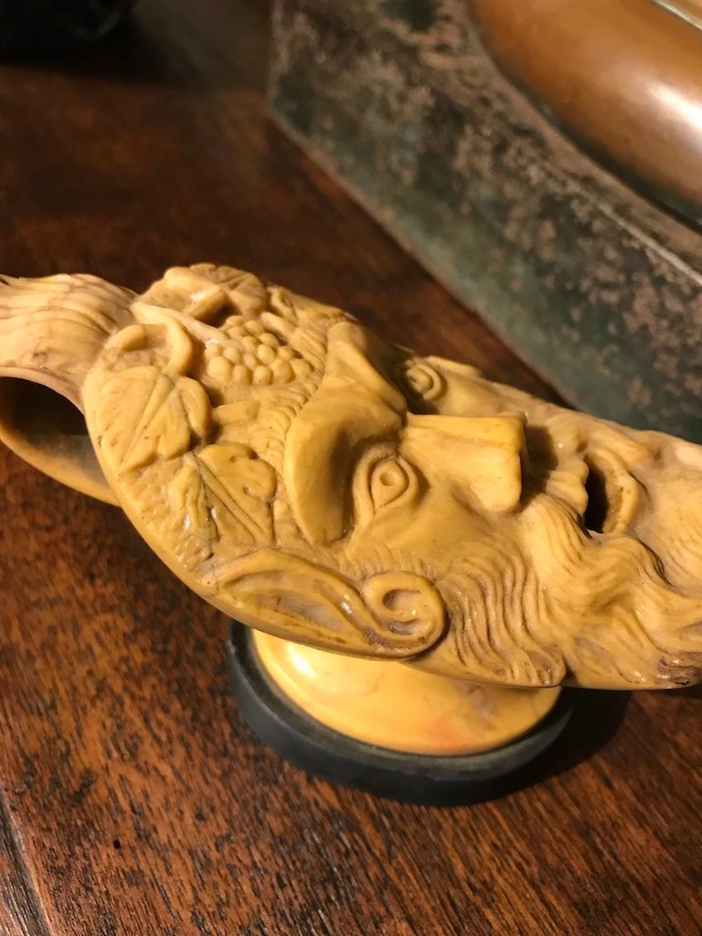 Italian Grand Tour Siena Marble Oil Lamp For Sale 3