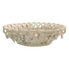 Italian Grape Motif Creamware Bowl