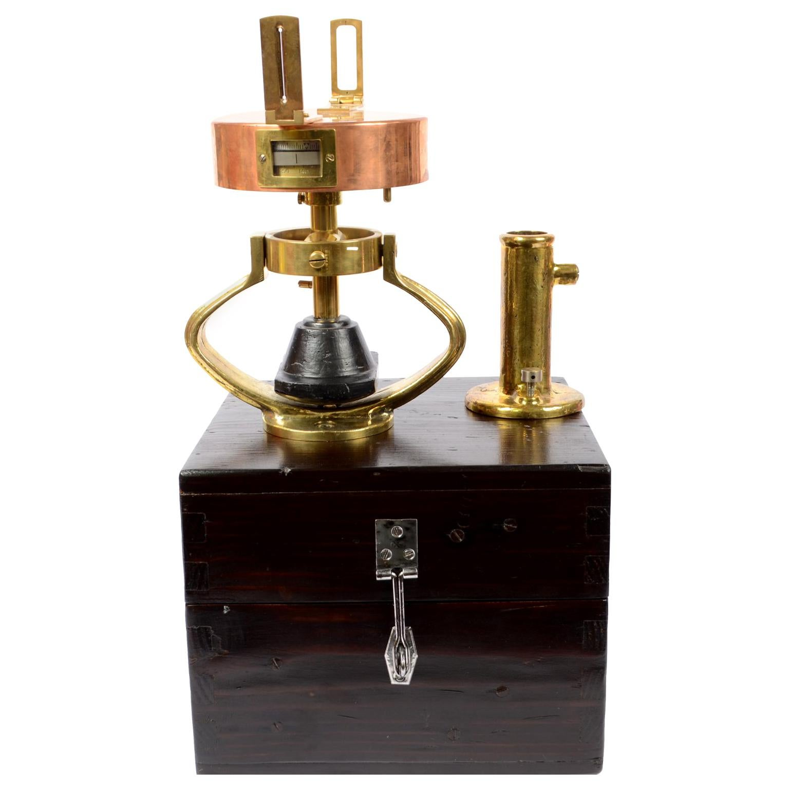 Italian Graphometer Complete with the Original Wooden Box