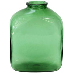 Italian Green Glass Vase by Empoli
