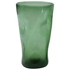 Italian Green Glass Vase