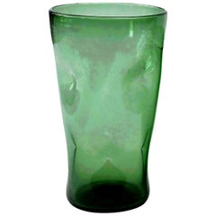 Italian Green Glass Vase