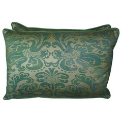 Italian Green & Gold Custom Pillows by Melissa Levinson
