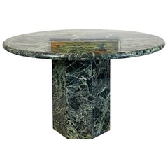 Italian Green Marble Dining Table