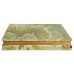Italian Green Onyx Marble Box