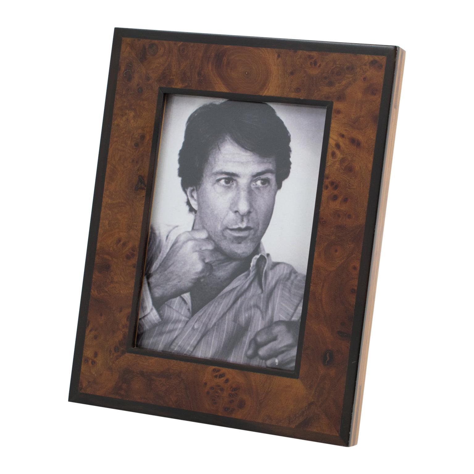 Italian Gucci Burl Wood Picture Frame