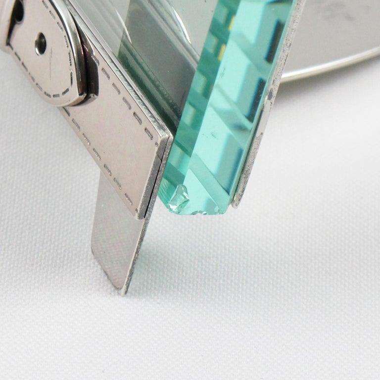 Italian Gucci Silver Plate Picture Photo Frame Belt Design For Sale 2