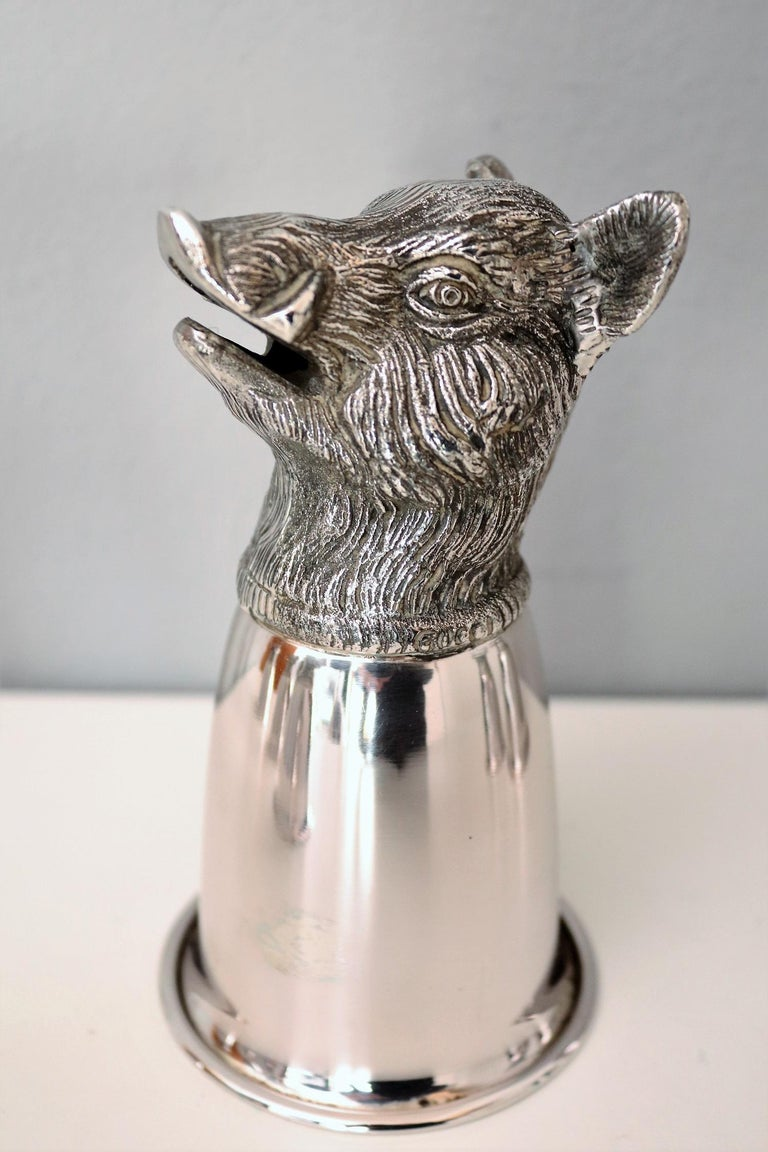 Italian Gucci Silver Plated Drinking Cups in Different Animal Shapes Signed For Sale 7