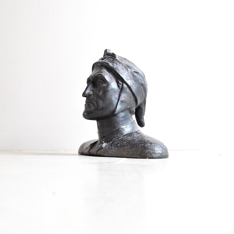 Mid-Century Modern Italian Half Bust Dante Alighieri For Sale