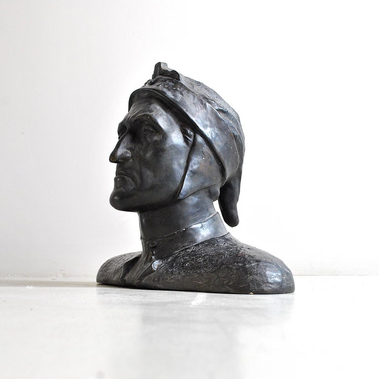Italian Half Bust Dante Alighieri In Good Condition For Sale In bari, IT