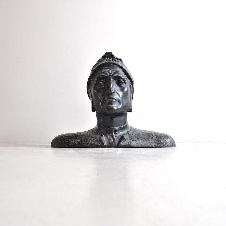 Mid-20th Century Italian Half Bust Dante Alighieri For Sale