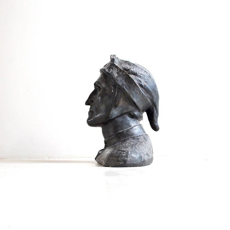 Plaster Italian Half Bust Dante Alighieri For Sale