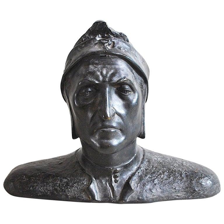 Italian Half Bust Dante Alighieri For Sale