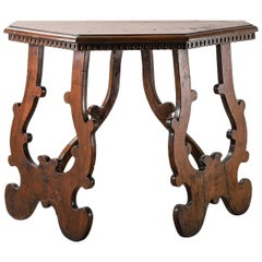 Italian Halved-Octagon Console with Canted Lyre-Legs