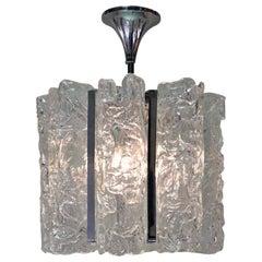 Italian Hand Blow Texture Glass Chandelier
