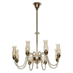 Italian Hand Blown Glass Chandelier