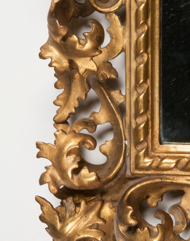 Italian Hand Carved and Gold Leaf Gilded Baroque Style Mirror, 1890-1900 For Sale 12