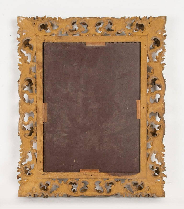 Italian Hand Carved and Gold Leaf Gilded Baroque Style Mirror, 1890-1900 For Sale 13