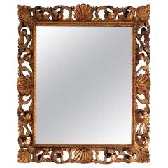 Italian Hand Carved Gilded Rococo Mirror