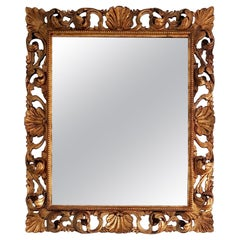 Italian Hand Carved Gilded Rococo Mirror