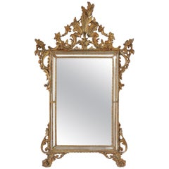 Italian Hand Carved Giltwood Venetian Style Mirror