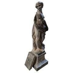 Italian Hand Carved Limestone Statue