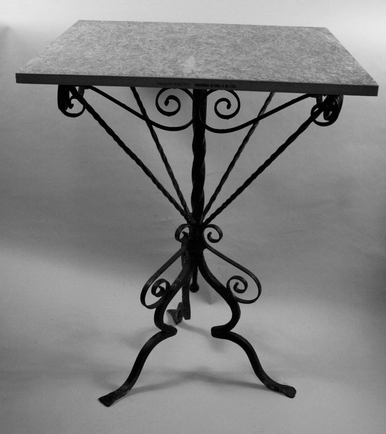 Italian Hand Made Iron Based Table with Ceramic Top In Good Condition For Sale In Douglas Manor, NY
