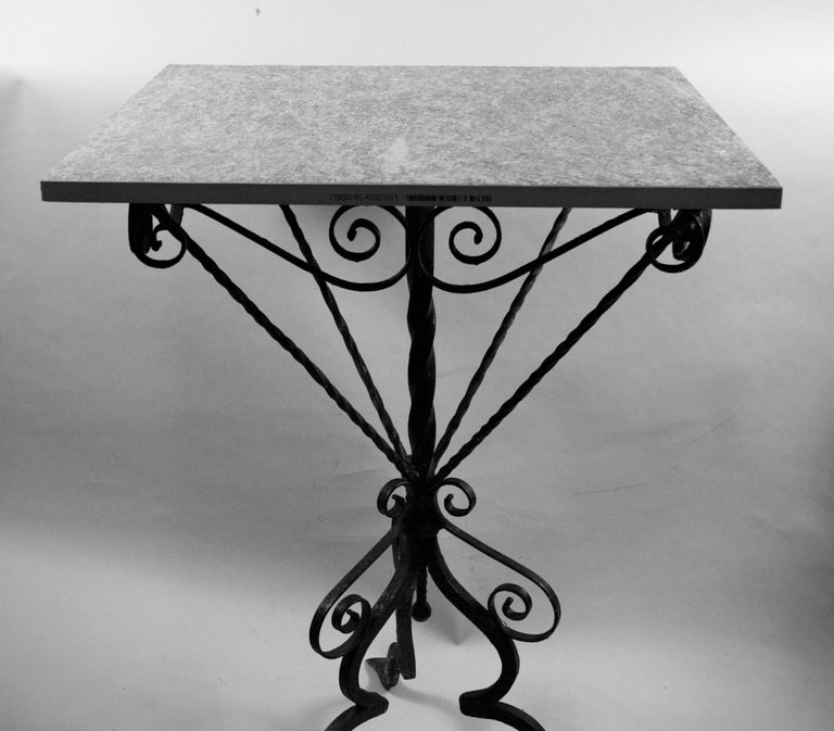 Italian Hand Made Iron Based Table with Ceramic Top For Sale 1