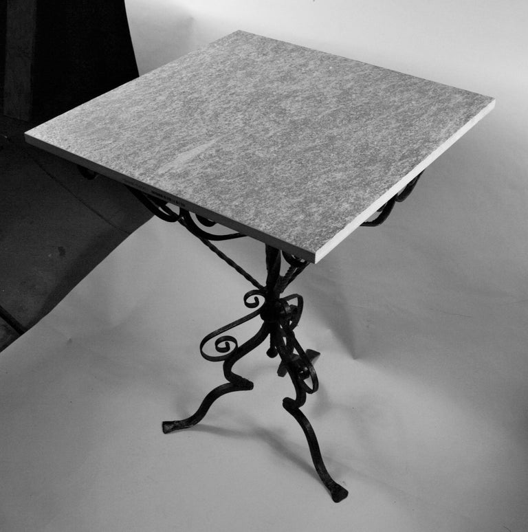 Italian Hand Made Iron Based Table with Ceramic Top For Sale 2