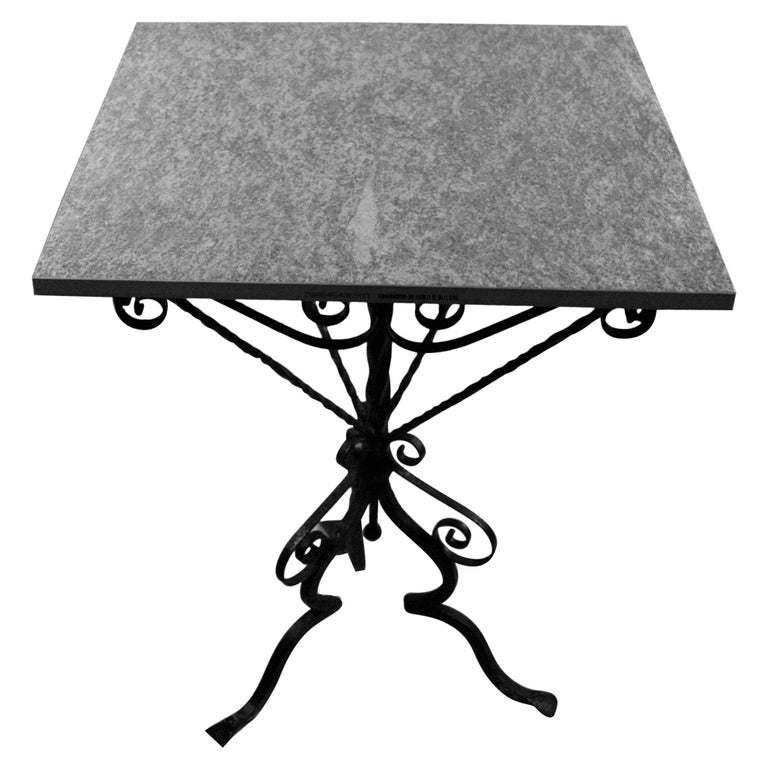 Italian Hand Made Iron Based Table with Ceramic Top For Sale