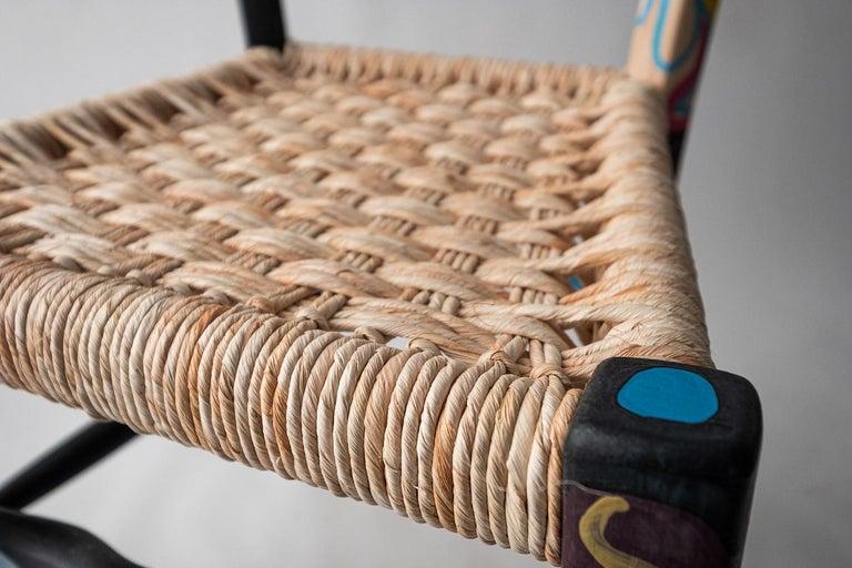Contemporary Italian Hand Painted Ashwood Chair