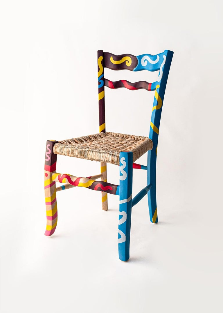 The vernacular archetype of the countryside chair has been redesigned by the Italian designer Antonio Aricò and made by MYOP, a Sicilian based family company, known around the world for its eclectic approach to craftmanship furniture and design.
